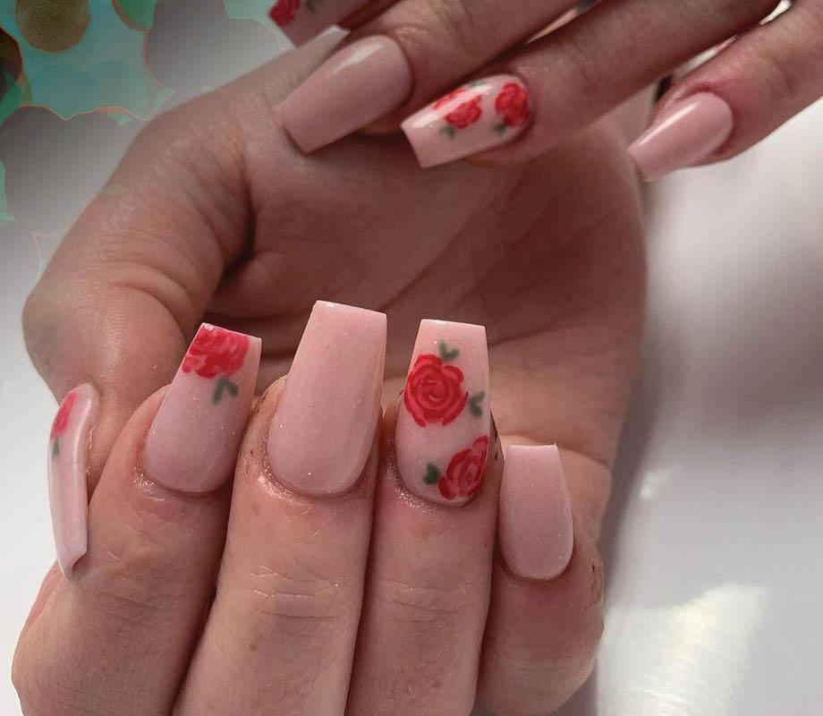 Sarah Deptuck's delicate rose nail lounge designs