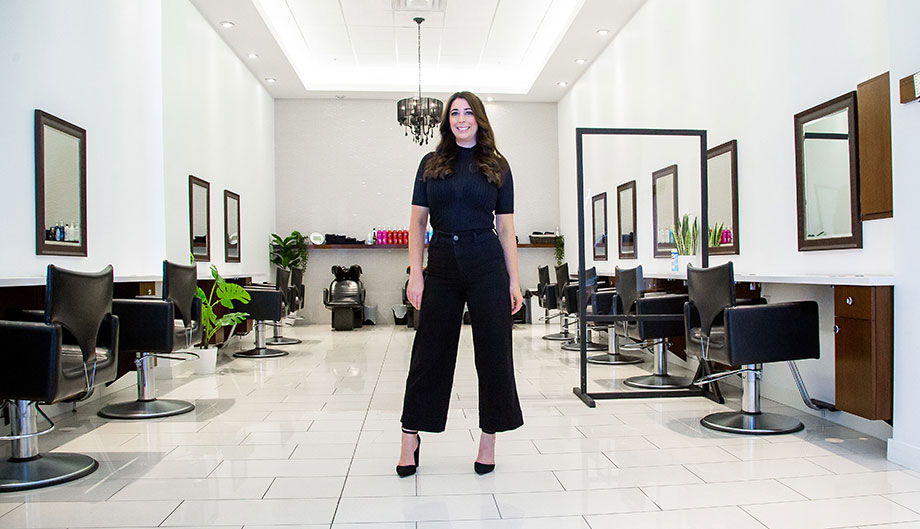 Courtney Vieira owner of Refresh Salon and Spa