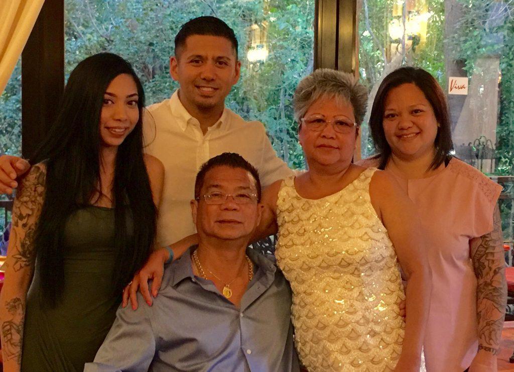 Blanche Macdonald Pro Makeup Program Graduate April Pangilinan with her family