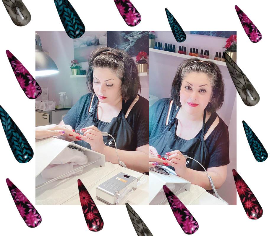 Blanche Macdonald Centre nail studio instructor Roshanak Fadaei's working in her studio
