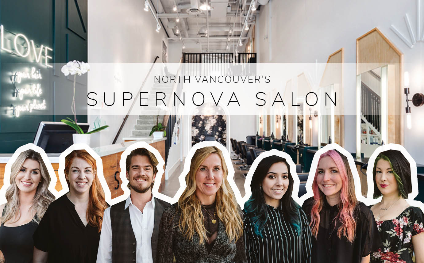 Supernova Salon Staff at their location in North Vancouver
