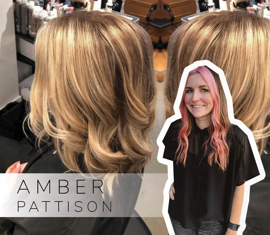 Supernova Salon stylist and Blanche Macdonald Centre graduate Amber Pattison and her blonde highlights