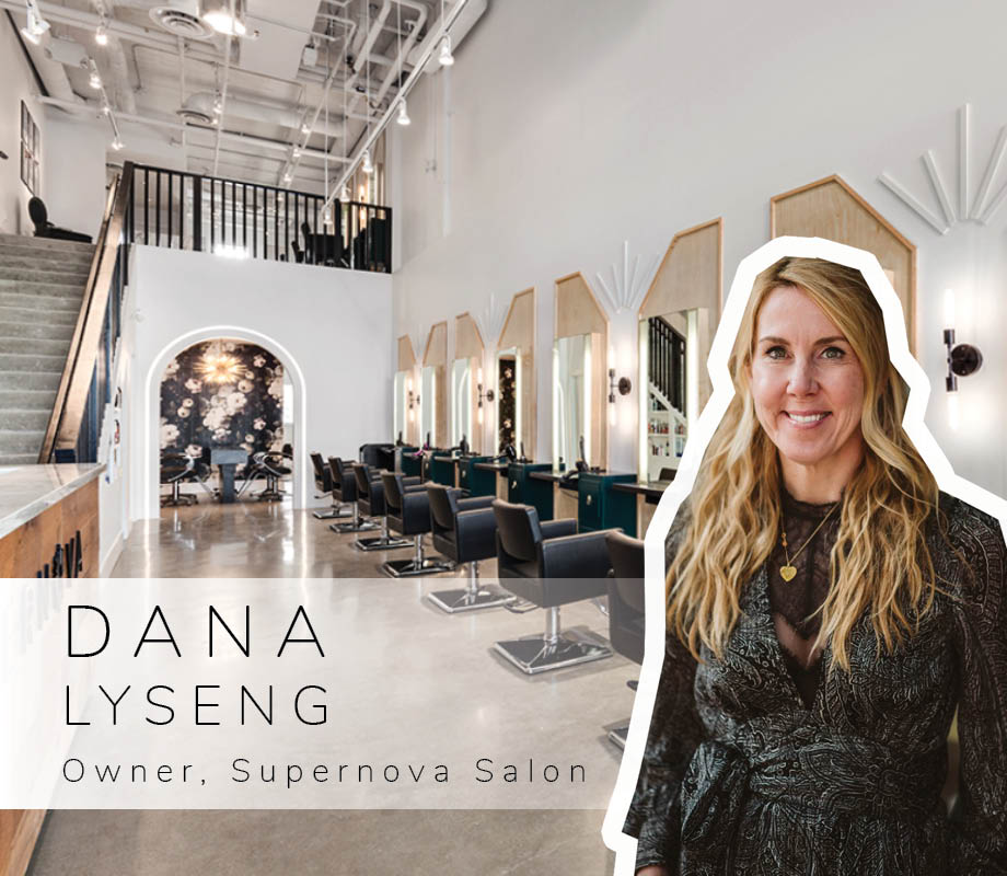 Supernova Salon Creative Director and Blanche Macdonald Centre graduate Dana Lyseng and her red hair
