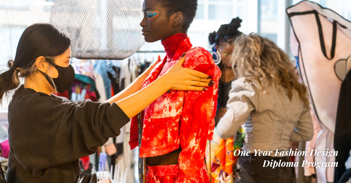 bts of Blanche Fashion Design graduate pieces