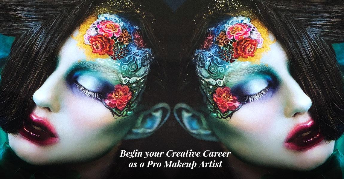 Global makeup program grad Mimi Choi does fantasy floral makeup
