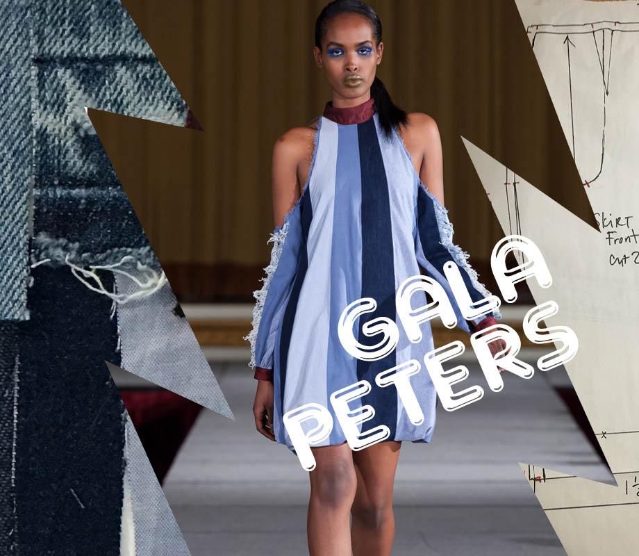 BMC fashion design graduate Gala Peters' work on the runway