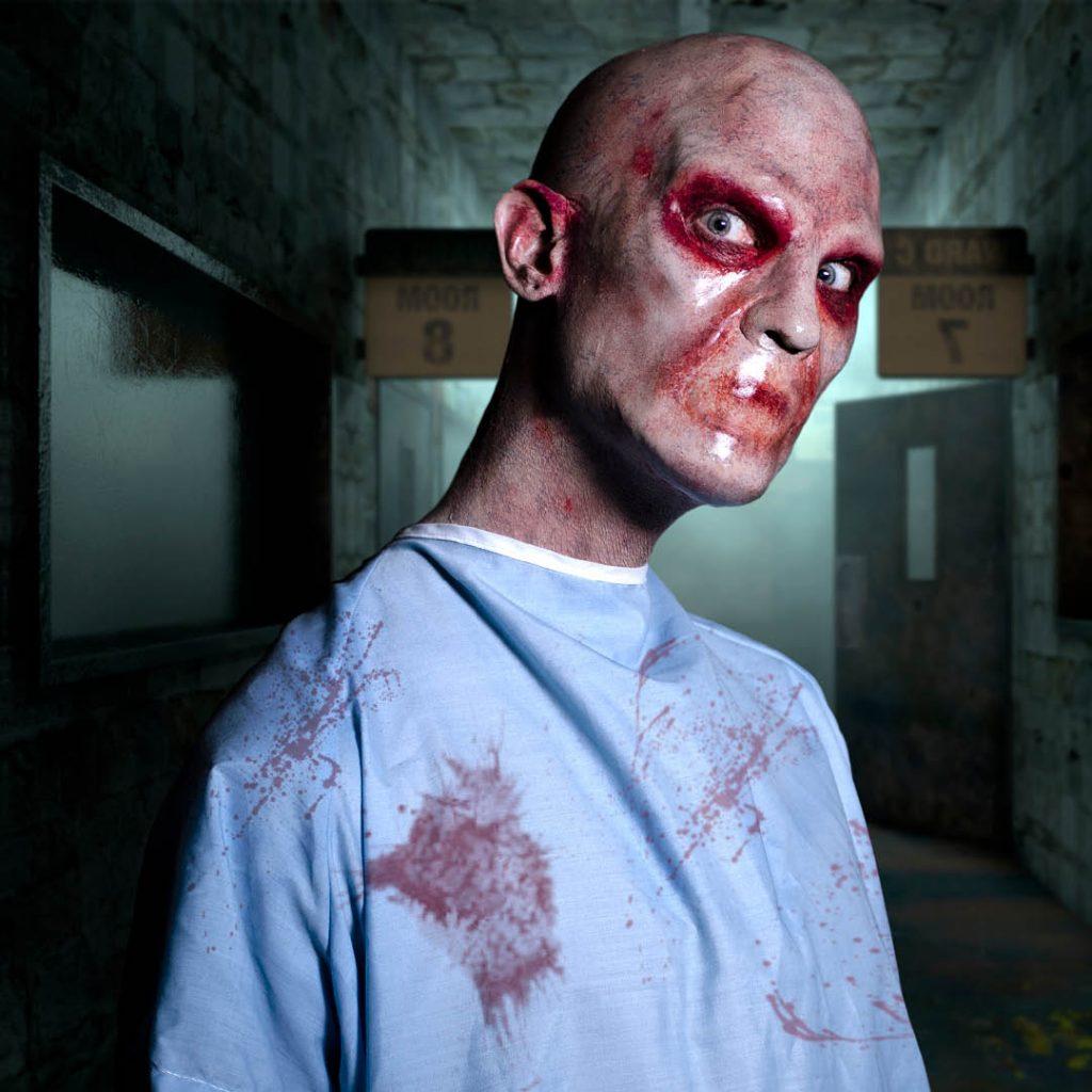BMC Pro Makeup Grad Graden van Erkelens' insane asylum patient fx look for film and television
