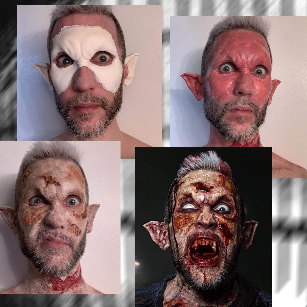 BMC Pro Makeup Grad Graden van Erkelens' gory elf look for film and television