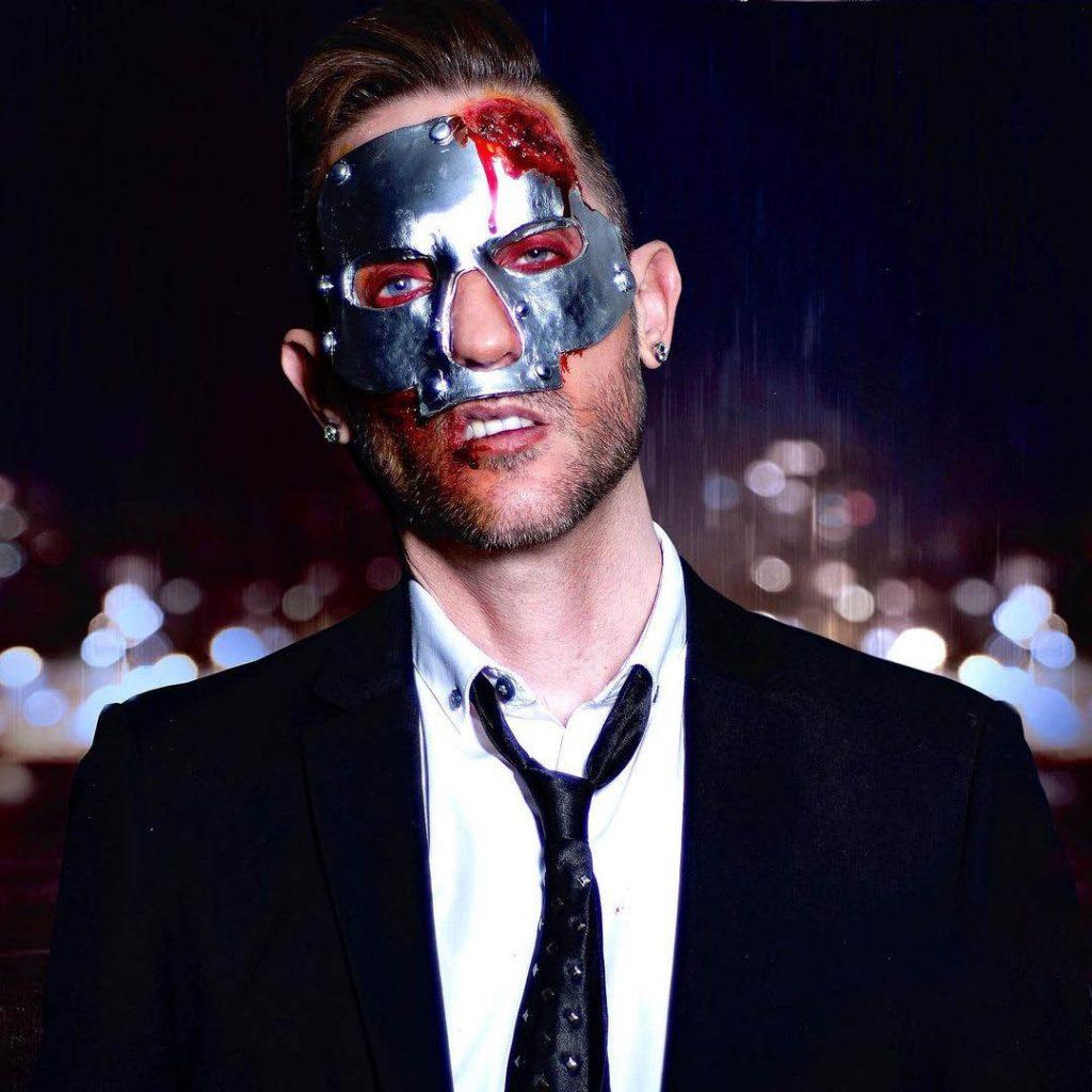 BMC Pro Makeup Grad Graden van Erkelens' iron mask hit man sfx look