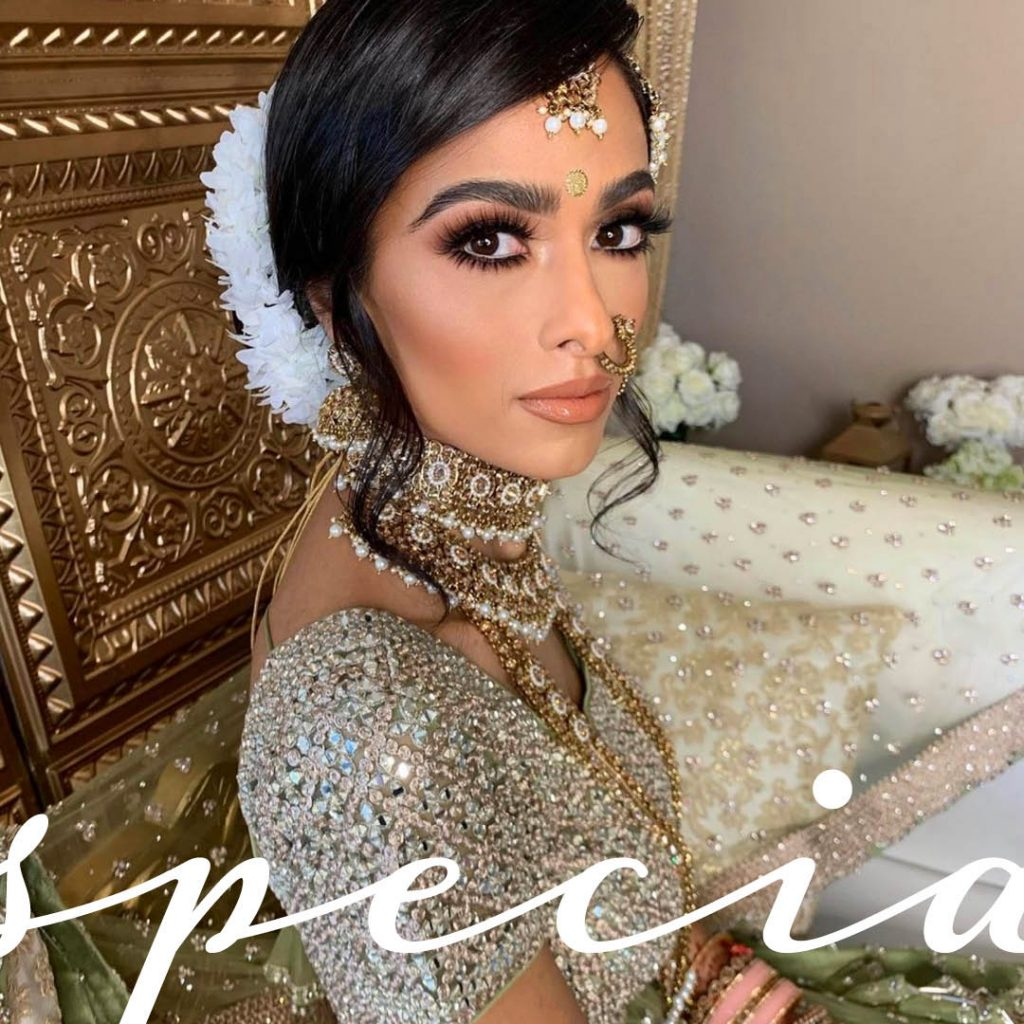 high impact lashes Southeast Asian wedding look by BMC pro makeup graduate Sukhi Lidher
