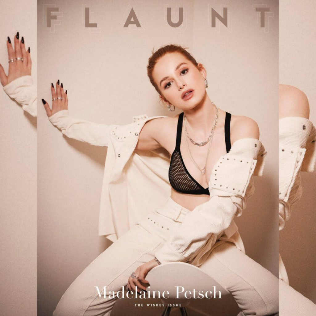 BMC nail studio graduate Vanessa Stern's nails for Riverdale star Madeline Petsch on the cover of FLAUNT magazine
