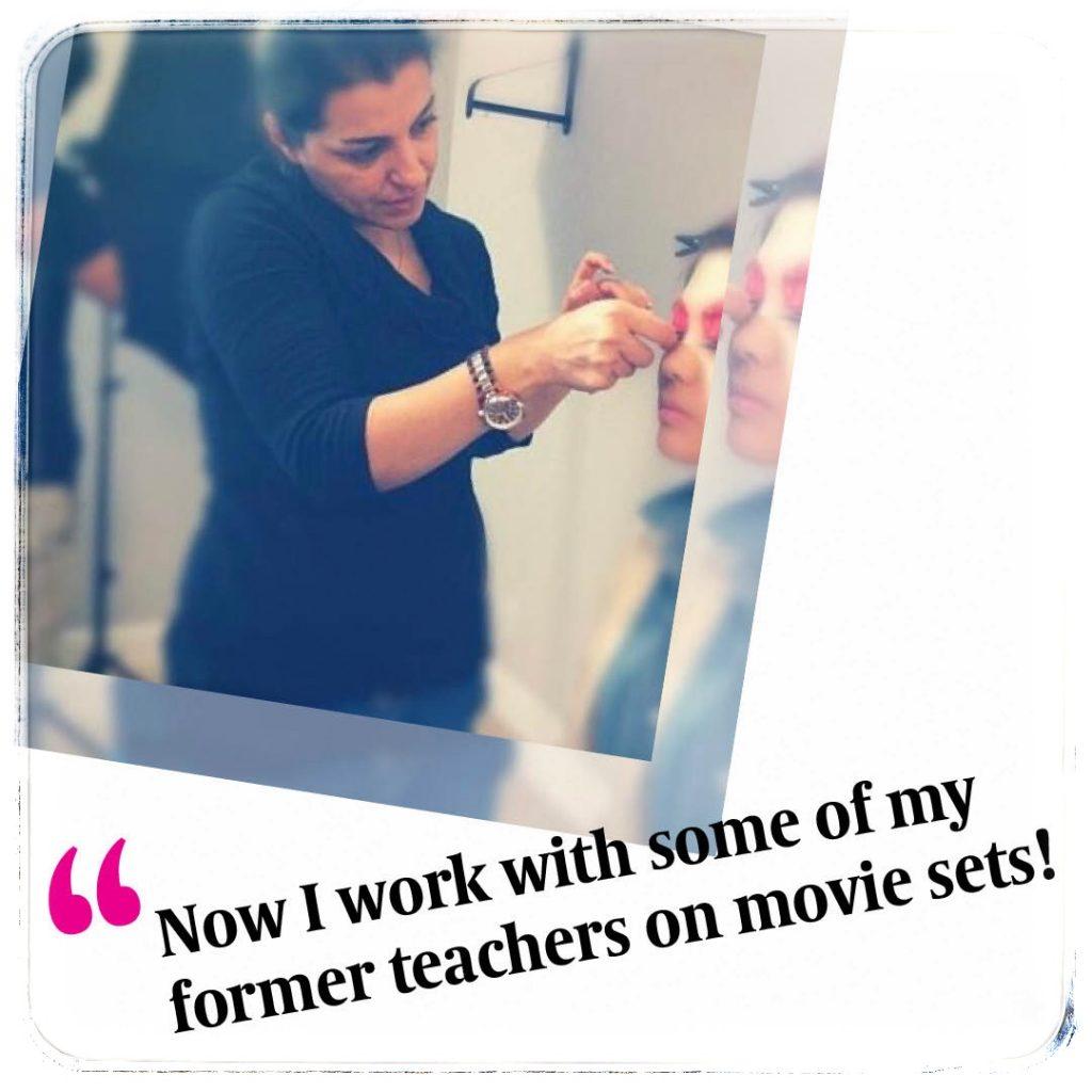 BMC Pro Makeup graduate and Hollywood North Makeup Artist Azita Abbaspour pink eyeshadow look
