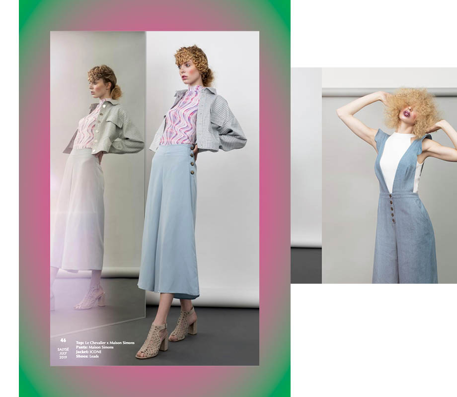 BMC Fashion Marketing graduate and Calgary fashion stylist Vanessa Smith's denim-inspired look for SALYSE magazine