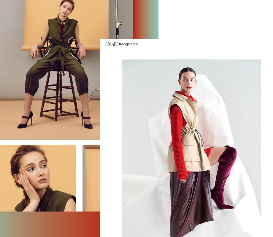 BMC Fashion Marketing graduate and Calgary fashion stylist Vanessa Smith's ghost styling for an ElegantMagazine and a GMARO Magazine editorial