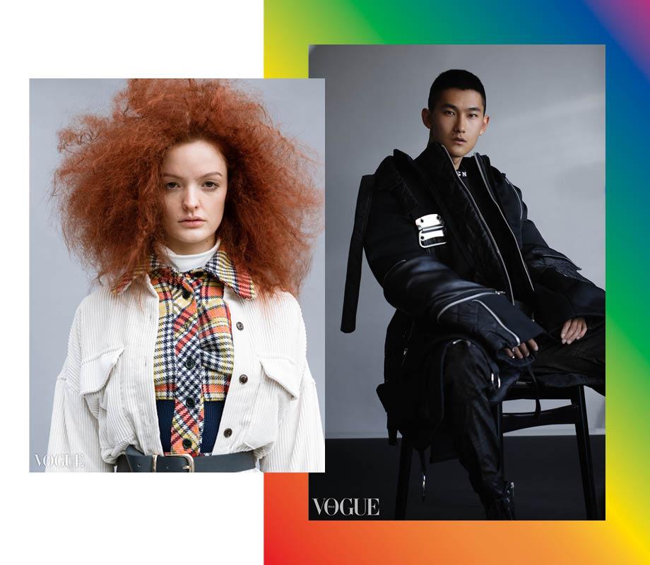 BMC Fashion Marketing graduate and Calgary fashion stylist Vanessa Smith's men's and women's looks for Vogue