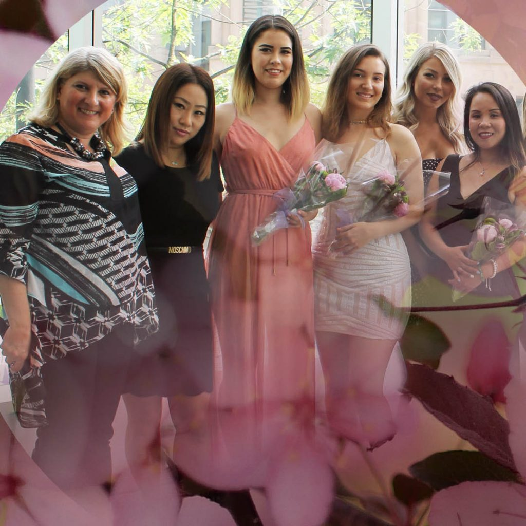 Simona Gozner Esthetics Director esthetics school at graduate ceremony